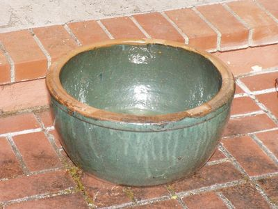 Glazed minibog pot